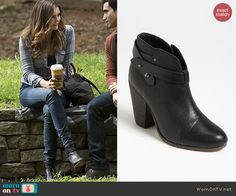 Elena's black ankle boots on The Vampire Diaries.  Outfit Details: http://wornontv.net/40429/ #TheVampireDiaries
