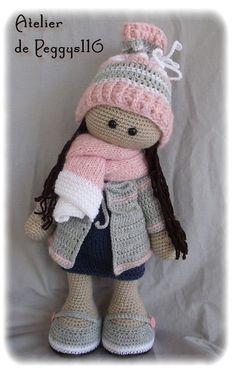 This Pin was discovered by Zer Crochet pattern for doll IDA p Crochet Amigurumi, Knit Or Crochet, Crochet Gifts, Cute Crochet, Amigurumi Doll, Amigurumi Patterns, Doll Patterns, Crochet Patterns, Crochet Doll Clothes