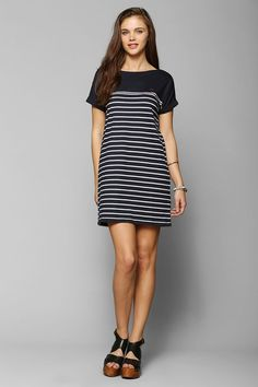 Fred Perry Breton Stripe Tee Dress - Urban Outfitters