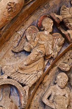 Angel, Refectory Door,  Abbaye Saint Aubin, Angers (Maine-et-Loire)  Photo by  PJ McKey