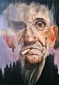 70 / 100 cm Yağlı Boya Tablo Oil on Painting ingstagram Draw, Oil, Portrait, Painting Art, Artwork, Work Of Art, To Draw, Men Portrait, Drawings