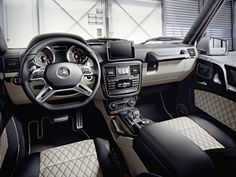 Stunning interior. Once you sit here, you'll never want to get up. #GClass