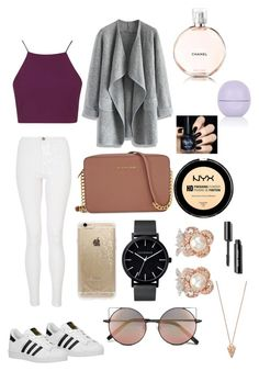 """Untitled #15"" by sdbeautyandfashion on Polyvore featuring Quiz, Topshop, Chicwish, adidas Originals, Michael Kors, Rifle Paper Co, Linda Farrow, The Horse, Anabela Chan and Pamela Love"