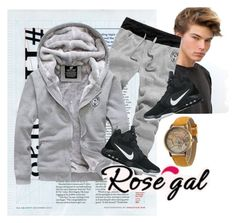 """rosegal 80"" by aida-1999 ❤ liked on Polyvore featuring NIKE"