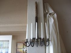 Yolanda Bland's repurposed garden fork candellabra