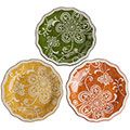 #decorative plates yellow/green/red