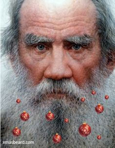 You can do better than Tolstoy with http://xmasbeard.com  #XmasBeard #Beard #MerryChristmas #Funny