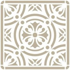 Stencil Mini Deco Fondo 067 Azulejo Iberia 02 Stencil Diy, Stencil Painting, Ceramic Painting, Stenciling, Painting Tile Floors, Mandala Stencils, Stained Glass Designs, Repeating Patterns, Diy Wall