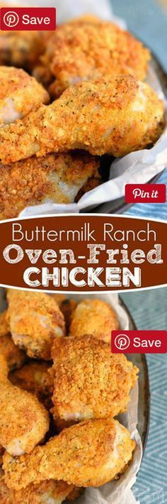This Buttermilk Ranch Oven-Fried Chicken is bound to become a new family favorite! This recipe is perfect for a quick and easy dinner any Ingredients Meat 3 lbs Fryer Baking & Spices tsp Cayenne 1 8.5 oz box Corn muffin mix 1 tsp Paprika 1 tsp Pepper 1 1oz envelope Ranch salad dressing and seasoning mix 1 tsp Salt Dairy 2 cups Buttermilk