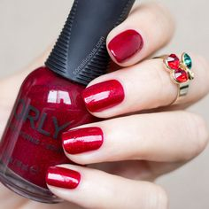 ORLY Star Spangled || 7 best red nail polishes for Valentine's Day: http://sonailicious.com/7-sensual-red-nail-polishes-valentines-day/
