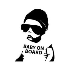 baby on board car window decal or sticker by. Black Bedroom Furniture Sets. Home Design Ideas