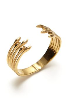 Viper Cuff 18k gold Plated Vintage Inspired Eddera