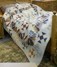 Fan of Nines by Bev Getschel in Best Fat Quarter Quilts 2014.