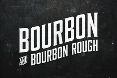 "Bourbon is a condensed display typeface inspired by the likes of whiskey bottles and vintage serifs. It enjoys long walks with subtle, distressed textures or a nice, good-ole script. One night, the ""Regular"" style decided to get into a bar fight and ended up looking ""Rough"" with a more printed, aged feel.  Includes the 6 styles of Bourbon (Regular, Oblique, Lines, Lines Oblique, Rough, Rough Oblique)."