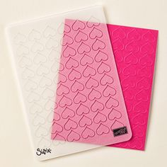 Happy Heart Textured Impressions Embossing Folder by Stampin' Up!