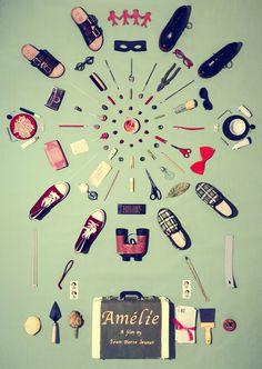 Amelie Poster Original Artwork by Jordan by JordanBoltonDesign