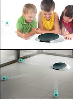 "Roomba 2.0: ""jell"" balls that disperse and do the cleaning for you. 
