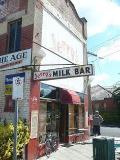 Jerry's Milkbar, Elwood by Big Fil Neon Bar Signs, Terra Australis, Australian Icons, No Mans Land, Melbourne Victoria, Old Photos, Milk, Outdoor Ideas, Windsor