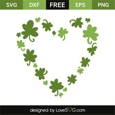 Heart of clovers Cricut Monogram, Cricut Vinyl, Svg Files For Cricut, Vinyl Decals, Shamrock Template, Shamrock Printable, Silhouette Cutter, Silhouette Cameo, Silhouette Portrait