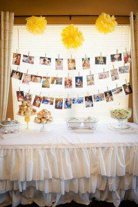 """Fabulous DIY 1st birthday party. This yellow and white """"You Are My Sunshine"""" theme is adorable."""