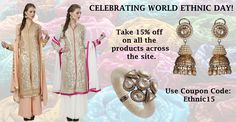 """""""Being Indian is not blood as much as it is culture""""- Tony Hillerman. Celebrate #WorldEthnicDay with us! #SALE #indianhanger #celebratingethnicity #indianculture #traditionalwear #discounts #onlineshopping #happycustomers"""