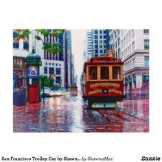 San Francisco Trolley Car by Shawna Mac Postcard