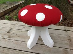 Red and White Polka Dot #Toadstool via Etsy #gnome #woodland