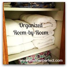 Planner Perfect is posting tips on how to get organized room-by-room all this week!
