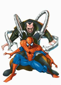 Spider-man and Doctor Octopus by Keron Grant