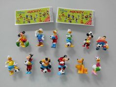Fremdfiguren Satz Zaini Mickey & Co. Fussball incl.  BPZ *top*