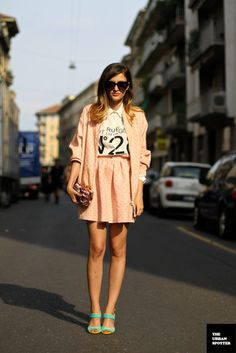 Eleonora Carisi via The Urban Spotter wearing @whatsinsideyou collection and @Moschcat Quino shirt