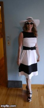 Kate Spade Black and White Fit and Flair Dress