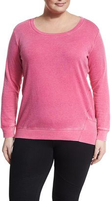 Shop Now - >  https://api.shopstyle.com/action/apiVisitRetailer?id=614602291&pid=uid6996-25233114-59 Marc NY Performance Plus Distressed Fleece Long-Sleeve Sweatshirt, Plus Size  ...