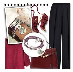 """""""Lizzy James"""" by aida-nurkovic ❤ liked on Polyvore featuring Derek Lam, Lizzy James, Iris & Ink, Hermès and lizzyjames"""