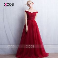 Find More Evening Dresses Information about Red Carpet Long Evening Dresses Off the Shoulder Pleated Abito Da Sera Simple Prom Gown Tulle 2016 Party Engagement Dress SA221,High Quality dresses beaded,China dress shops in new jersey Suppliers, Cheap dress organza from XCOS Wedding Dresses Co.,Ltd on Aliexpress.com