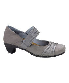 Look at this #zulilyfind! Slate & Rainy Gray Attitude Leather Mary Jane by NAOT #zulilyfinds