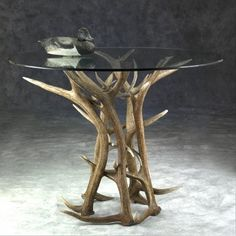 Elk Antler Breakfast Table | Antler Decor | Rustic Cabin Furniture