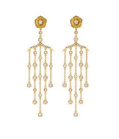 Theo Fennell - Gold & Diamond Blossom Chandelier Earrings