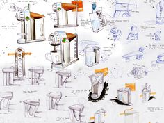 coffee machine sketch - Google Search
