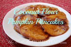 GAPS Legal Pumpkin Pancakes! Paleo, Coconut Flour, Grain-Free, Gluten Free, No Sugar, Honey-Sweetened, YUM!