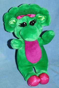 "Baby Bop from Barney Dinosaur 1993 Plush Stuffed Animal Lyons Golden Bear 10""  #Lyons #BabyBop"