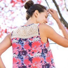 Weekends are the perfect time to let patterns bloom. (Mikoh Crochet Strap Top)