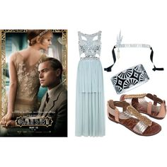 Gatsby Party Style by poufblowout, via Polyvore