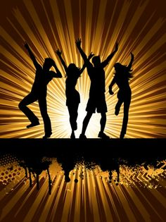 People silhouette at Disco Vector | Free Download