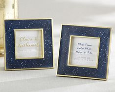 Kate Aspen& beautiful constellation-adorned frame is perfect for your star themed party. Use it for photos, table numbers, menu cards -- the sky& the limit! Star Theme Party, Navy Blue And Gold Wedding, Blue Gold, Unique Wedding Favors, Wedding Ideas, Wedding Stuff, Wedding Tokens, Wedding Decorations, Wedding Things