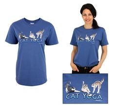Cat Yoga T-Shirt at The Animal Rescue Site