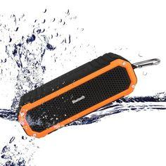 [10W Outdoor Alu-lautsprecher] Simpeak Bluetooth Lautsprecher mit Mikrofon, Haken und LED Taschenlampe [10 Stunden Spielzeit] - Wireless Wasserdichte Dusch-Lautsprecher für Bad, Büro, Auto, Camping, Radfahren - Schwarz