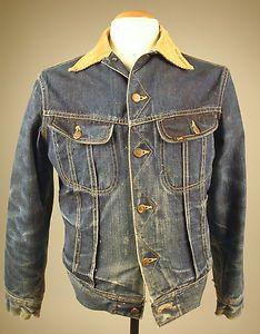 6756be52 Vintage 1940's-50's Storm Rider Blanket Lined Lee Jeans jacket Sold for  $950 Vintage Jeans