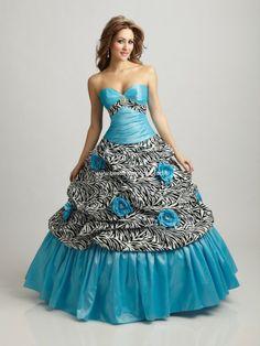 Zebra Print Prom Dresses