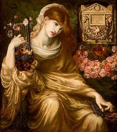 1874 Dante Gabriel Rossetti ~ The Roman Widow